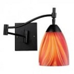 ELK Lighting One Light Dark Rust Multi Glass Wall Light - 10151/1DR-M