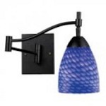 ELK Lighting One Light Dark Rust Sapphire Glass Wall Light - 10151/1DR-S