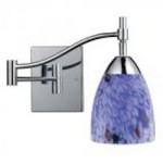 ELK Lighting One Light Polished Chrome Starburst Blue Glass Wall Light - 10151/1PC-BL