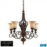 ELK Lighting Five Light Weathered Umber Up Chandelier - 2479/5-LED