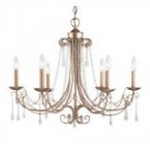 ELK Lighting Six Light Antique Silver Up Chandelier - 416-AS