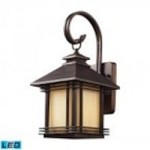 ELK Lighting One Light Hazlenut Bronze Wall Lantern - 42100/1-LED