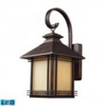 ELK Lighting One Light Hazlenut Bronze Wall Lantern - 42101/1-LED