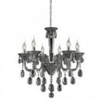 ELK Lighting Six Light Smoke Plated/chrome Up Chandelier - 80012/6