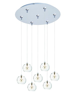ET2 Starburst 7-Light RapidJack Pendant and Canopy - E93772-24SN