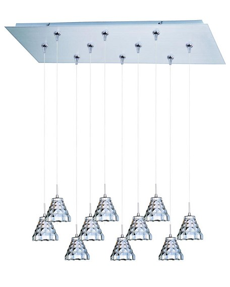 ET2 Minx 10-Light RapidJack Pendant and Canopy - E93901-20SN