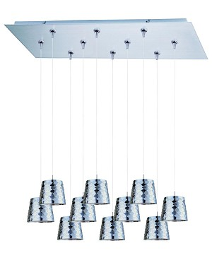 ET2 Minx 10-Light RapidJack Pendant and Canopy - E93902-20SN