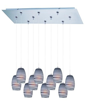 ET2 Minx 10-Light RapidJack Pendant and Canopy - E93904-51SN