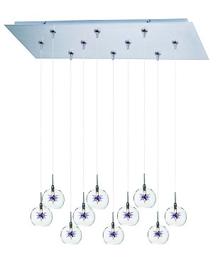 ET2 Starburst 10-Light RapidJack Pendant and Canopy - E93972-21SN