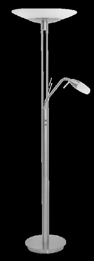 Eglo Two Light Nickel Floor Lamp - 89517A