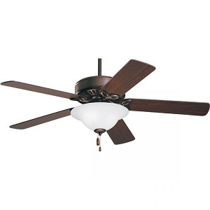Emerson Fans Three Light Oil Rubbed Bronze Opal Matte Glass Ceiling Fan - CF712WORB