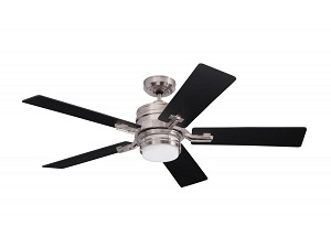Emerson Fans Two Light Brushed Steel Opal Matte Glass Ceiling Fan - CF880BS