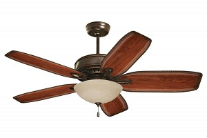 Emerson Fans Three Light Venetian Bronze Amber Mist Glass Fan Light Kit - LK80VNB