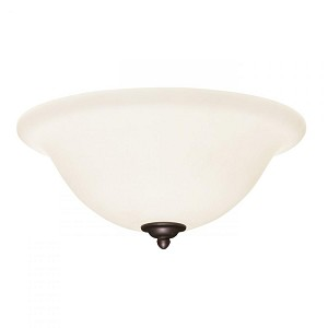 Emerson Fans Three Light Opal Matte Glass Satin White Fan Light Kit - LK74SW