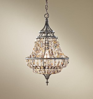 Feiss One Light Rustic Iron Down Pendant - F2799/1RI