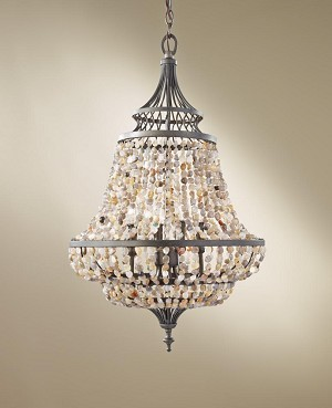 Feiss Four Light Rustic Iron Up Chandelier - F2807/4RI