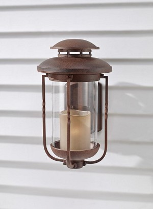Feiss One Light Champagne Scavo Glass Cinnamon Wall Lantern - OL9202CN