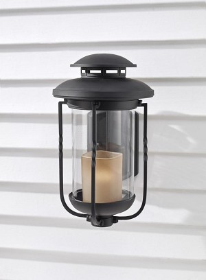 Feiss One Light Textured Black Champagne Scavo Glass Wall Lantern - OL9202TXB