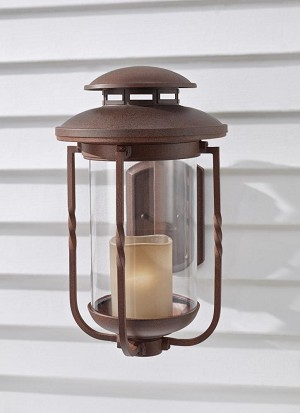 Feiss One Light Champagne Scavo Glass Cinnamon Wall Lantern - OL9204CN