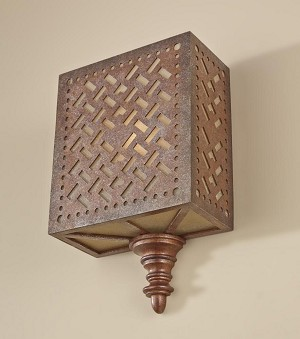 Feiss One Light Moroccan Bronze Wall Light - WB1609MOB