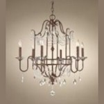 Feiss Six Light Mocha Bronze Up Chandelier - F2475/6MBZ