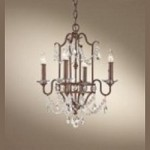 Feiss Four Light Mocha Bronze Up Chandelier - F2476/4MBZ