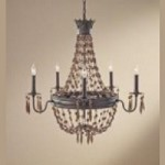 Feiss Five Light Rustic Iron Up Chandelier - F2804/5RI