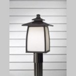 Feiss One Light Oil Rubbed Bronze White Opal Etched Glass Post Light - OL8508ORB