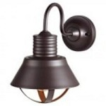 Feiss One Light Oil Rubbed Bronze Metal Shade Outdoor Wall Light - OL8801ORB