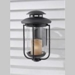 Feiss One Light Textured Black Champagne Scavo Glass Wall Lantern - OL9204TXB