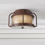 Feiss Two Light Clear Glass Cinnamon Outdoor Flush Mount - OL9213CN