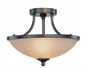 Jeremiah Two Light Bronze Bowl Semi-Flush Mount - 26122-BZ