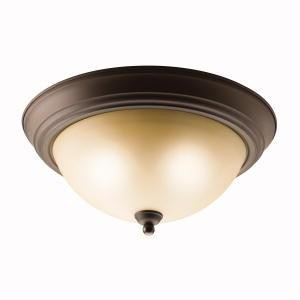 Kichler Two Light Olde Bronze Bowl Flush Mount - 10836OZ