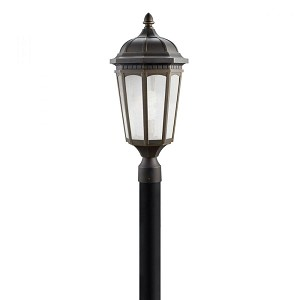Kichler One Light Rubbed Bronze Post Light - 11014RZ