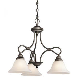 Kichler Three Light Olde Bronze Down Chandelier - 2556OZ