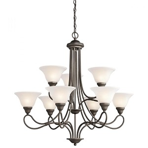 Kichler Nine Light Olde Bronze Up Chandelier - 2558OZ
