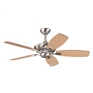 Kichler Brushed Stainless Steel Ceiling Fan - 300107BSS