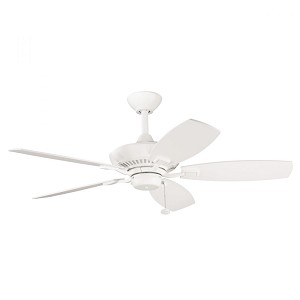 Kichler Satin Natural White Ceiling Fan - 300107SNW
