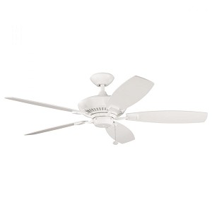 Kichler Satin Natural White Ceiling Fan - 300117SNW