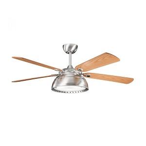 Kichler Three Light Brushed Stainless Steel Ceiling Fan - 300142BSS