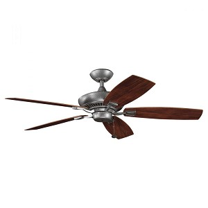 Kichler Weathered Steel Powder Coat Outdoor Fan - 310192WSP