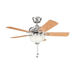Kichler Three Light Brushed Stainless Steel Ceiling Fan - 337014BSS