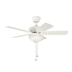 Kichler Three Light Satin Natural White Ceiling Fan - 337014SNW