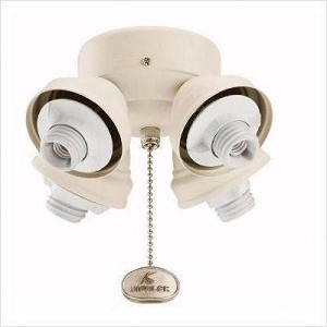 Kichler Four Light Brushed Nickel Fan Light Kit - 350011NI