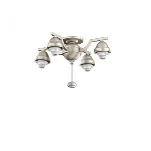 Kichler Four Light Brushed Nickel Fan Light Kit - 350104NI