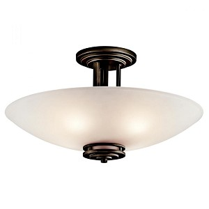 Kichler Four Light Olde Bronze Bowl Semi-Flush Mount - 3677OZ