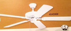Kichler Satin Natural White Ceiling Fan - 404SNW