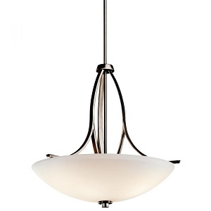 Kichler Three Light Brushed Pewter Up Pendant - 42561BPT
