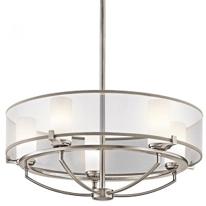Kichler Five Light Classic Pewter Up Chandelier - 42921CLP