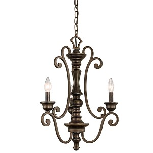 Kichler Three Light Terrene Bronze Up Chandelier - 43278TRZ
